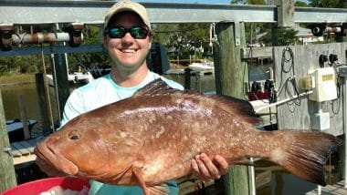Red Snapper Caught Offshore by Team Big Fish Charter